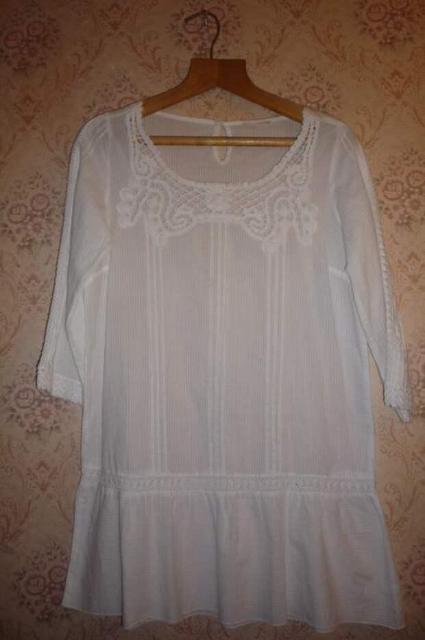 Выкройка-шаблон платья-туники с цельнокроеными рукавами