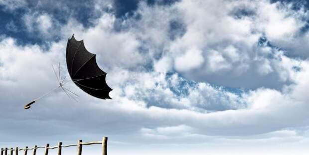 В Крыму порывы ветра вырвали автобусную остановку (ФОТО)