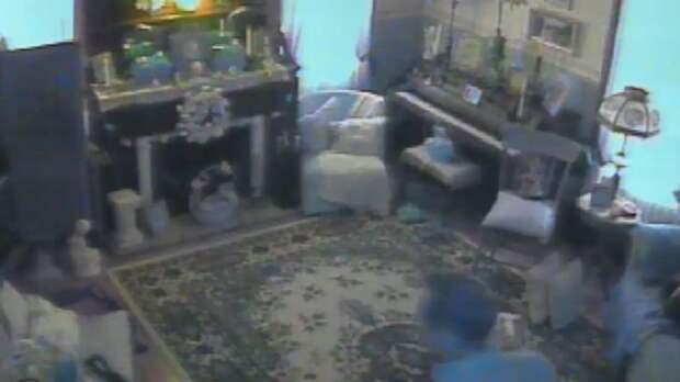 Призрак появляется на видео