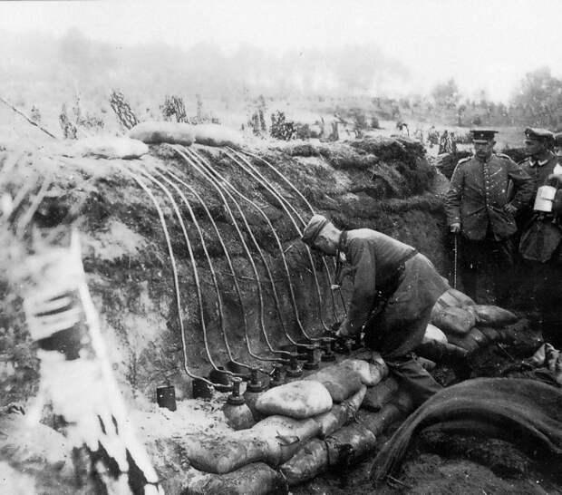 Химическая атака под Осовцом готовилась с немецкой педантичностью./Фото: epublishing.cz