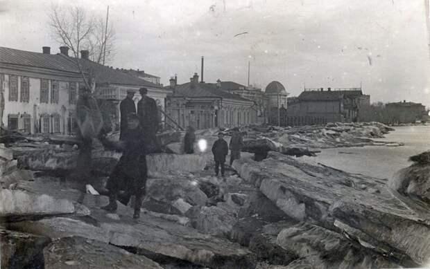 1928. Лед на Иртыше история, ретро, фото