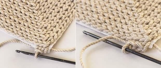 как связать коврик без спиц и крючка