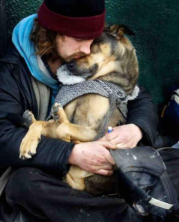 Их богатство - в их сердцах: 15 бездомных, которые собакам отдали все