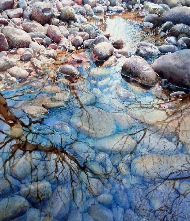Живые акварели турецкой художницы Рукие Гарип.  Фото: livemaster.ru.