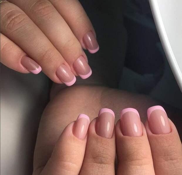 розовый френч фото 26