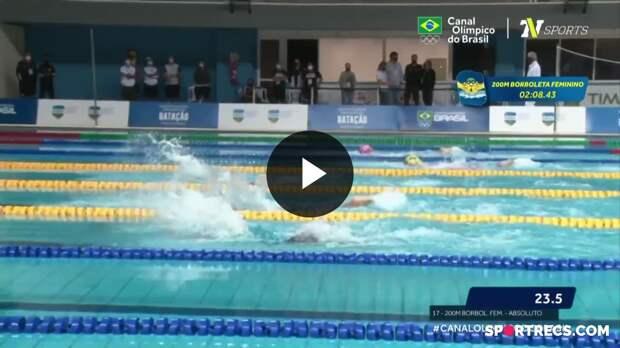 Giovanna Diamante vence, mas não consegue o índice olímpico nos 200m Borboleta Feminino - Dia 4 do Pré-Olímpico de Natação (22/04/2021)