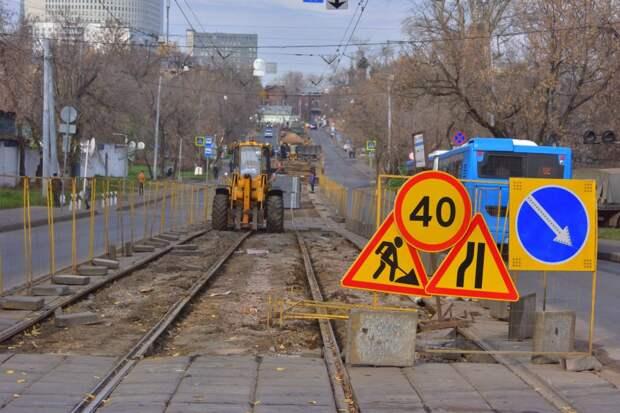 Ремонт трамвайных путей в Строгине не будет проводиться в праздничные дни