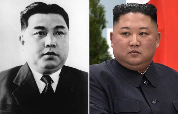 Ким Ир Сен и Ким Чен Ын