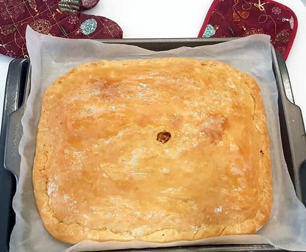 Пирог из теста на картофельном отваре