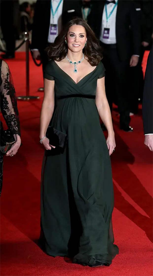 Кейт Миддлтон в платье Jenny Packham на церемонии BAFTA в 2018 году