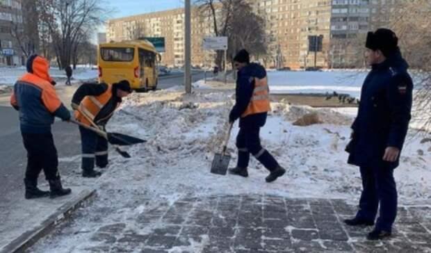 Глава Северного округа Оренбурга получил представление за плохую уборку снега