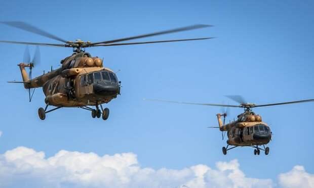 ВАфганистане столкнулись иразбились два военных вертолета