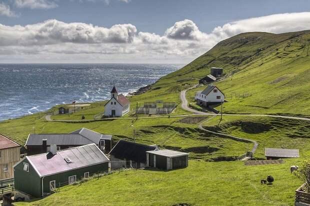 Живописная деревня Гасадалур— самое красивое место Фарерского архипелага
