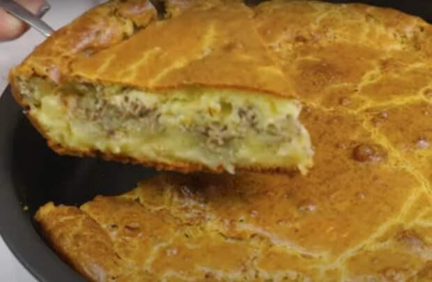 Ленивый пирог к ужину с рыбной начинкой