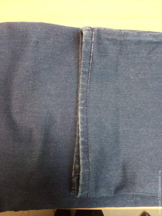 Как укоротить джинсы с сохранением нижней кромки