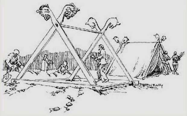 Палатка викингов была простой и практичной.