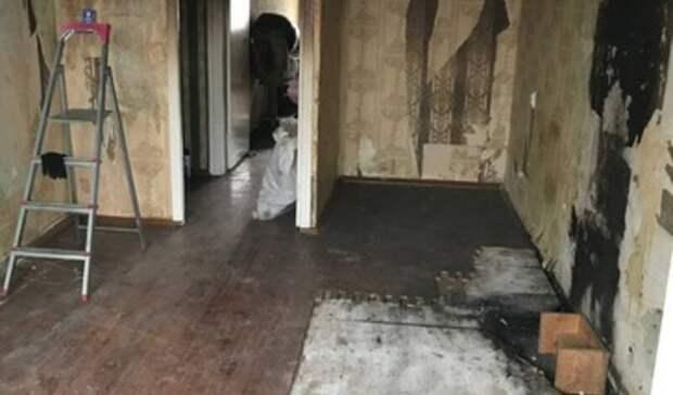 Повреждённую из-за пожара квартиру белгородской пенсионерки восстановят коДню Победы