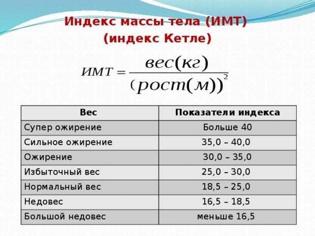 Способ №1: по индексу Кетле вес, диета, полезно, расчет, система, фишки-мышки
