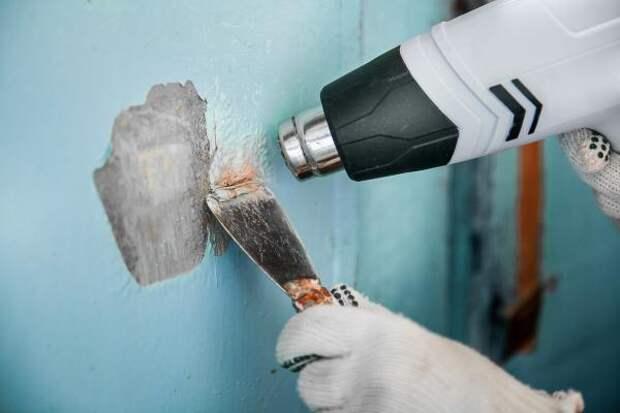 3 способа быстро и легко снять старую краску со стен