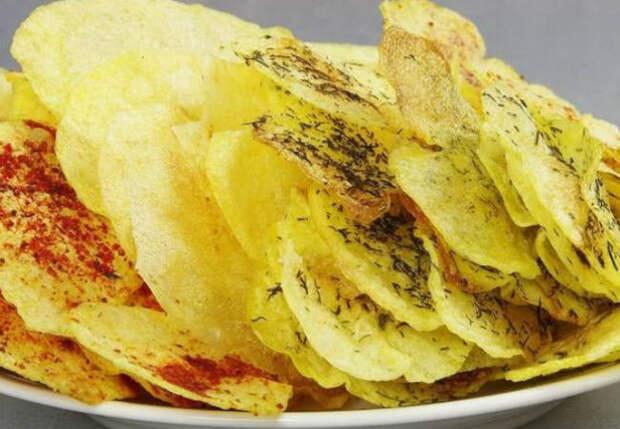 4 вкуса из одной картошки: готовим чипсы в микроволновке