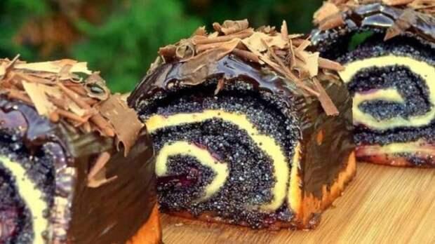Готовлю вместо пончиков! Пышные булочки с маком и вишнями - невесомое тесто и много начинки