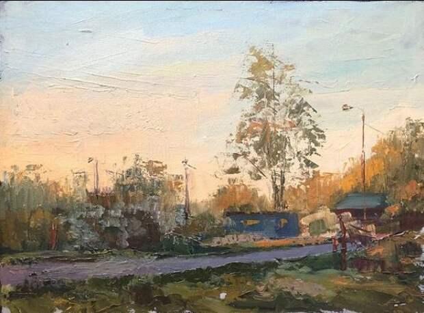 Живописный вид на Виноградово вдохновил студентку на написание картины