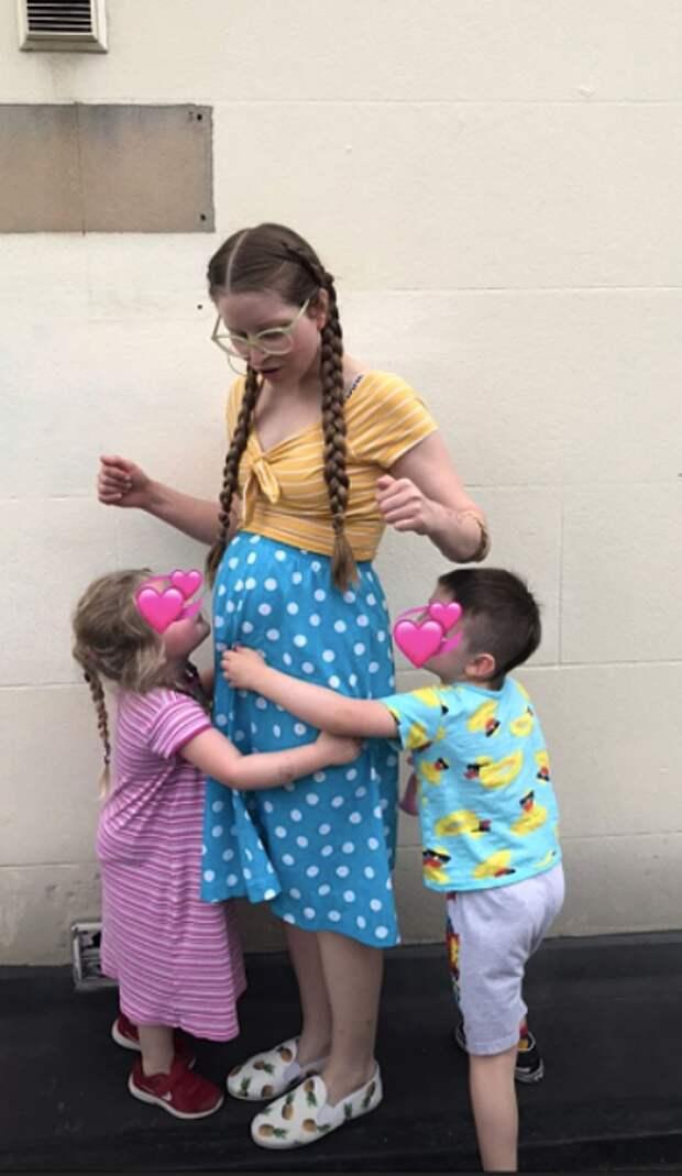Джесси с сыном Донни и дочкой Марго