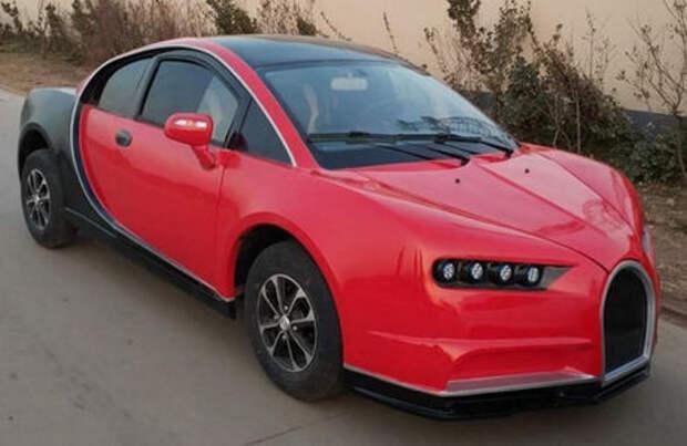 Китайская копия Bugatti Chiron. Всего 5000 баксов, но с 3,35-сильным мотором