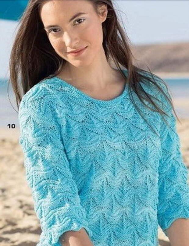 Три ажурных узора спицами для пуловеров