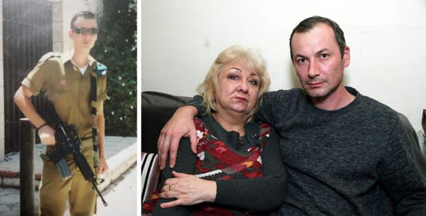 Данил Ниязов во время службы в ЦАХАЛе и десять лет спустя с мамой. Фото: семейный архив