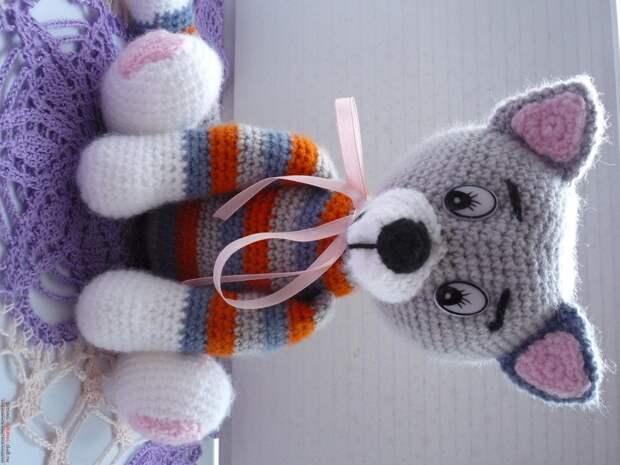 Вязание крючком: игрушка вязаный кот - Сделай сам - медиаплатформа МирТесен