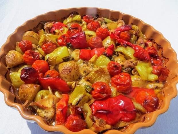 Картошка с мясом. Ленивый летний ужин. Еда, Рецепт, Длиннопост, Видео, Кулинария