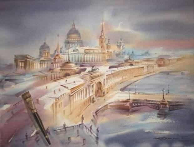 художник Константин Кузема акварель картины - 02
