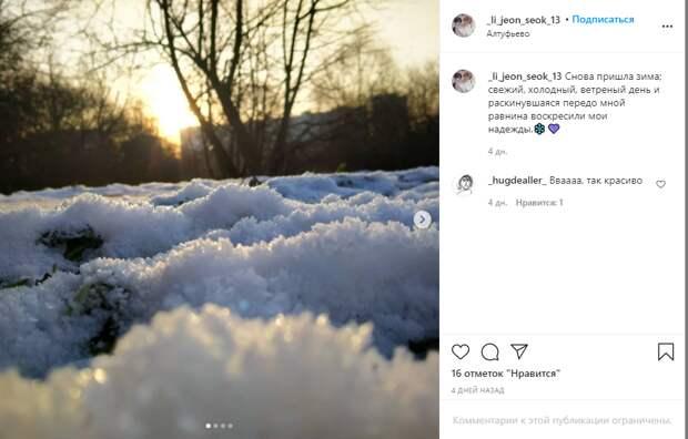 Фото дня: в Алтуфьеве показали кадры из жизни сугробов-малышей