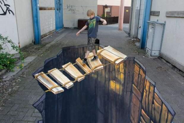 20 примеров стрит-арта, которые настолько реалистичны, что вам придётся посмотреть на них дважды