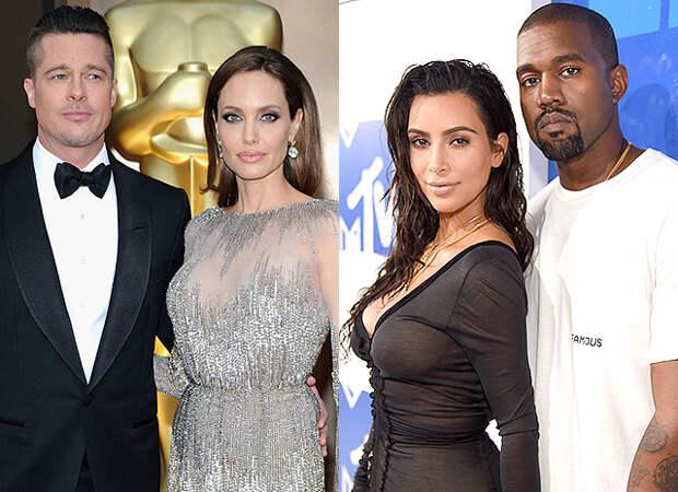 неожиданная просьба Джоли к Питту, подробности развода Кардашьян и Уэста и другие новости дня