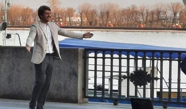 Нанабережной Ростова снимают сериал олюбви