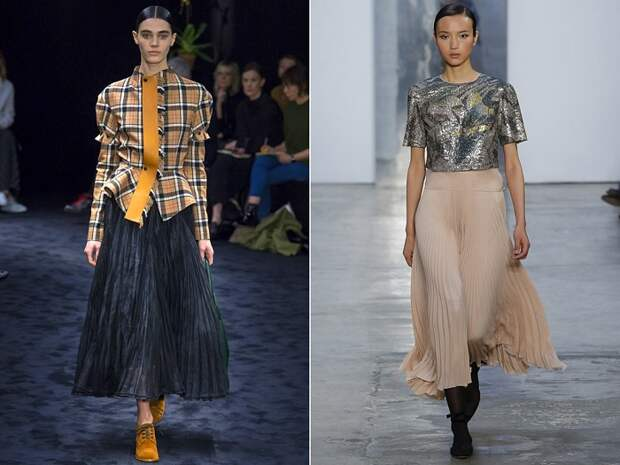 Плиссированная юбка - тренд этой осени