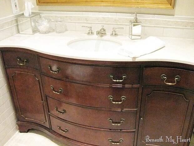 Шикарная мебель в ванную своими руками