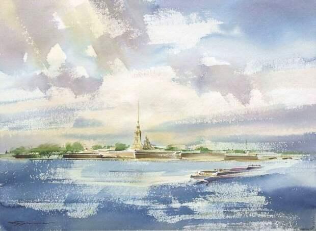 художник Константин Кузема акварель картины - 13