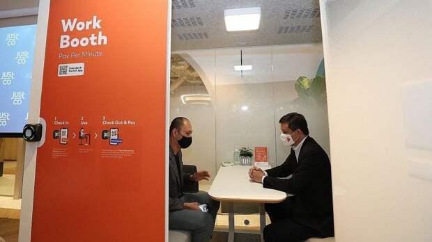 Офис будущего: сингапурская компания предлагает новый тип рабочего места для удаленных сотрудников – кабинки с поминутной оплатой