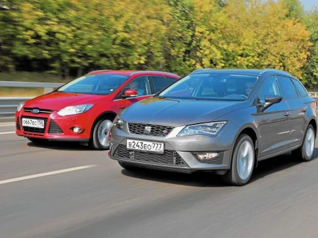 Seat Leon ST и Ford Focus Wagon: на стыке поколений