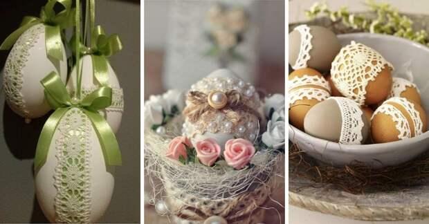 Украшаем яйца на Пасху: декор из мешковины