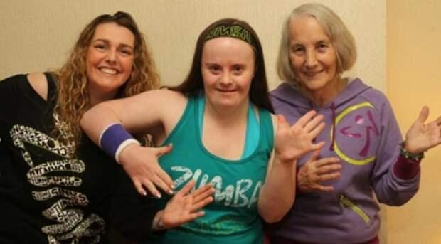 Кэти Хиггинс — тренер по зумбе болезнь, в мире, гены, заболевание, люди, синдром дауна, целеустремленность