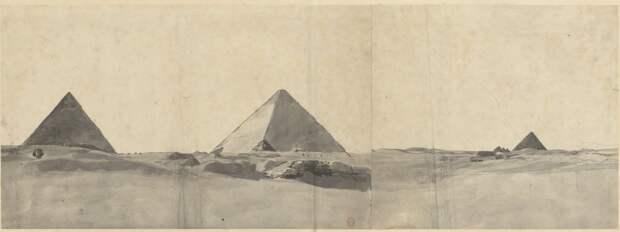 Пирамиды Гизы. Общий вид пирамид