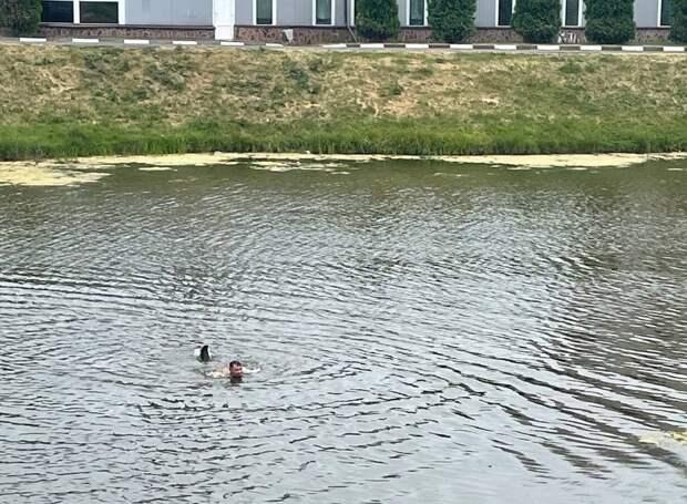 В токсичной реке Новая начали купаться люди