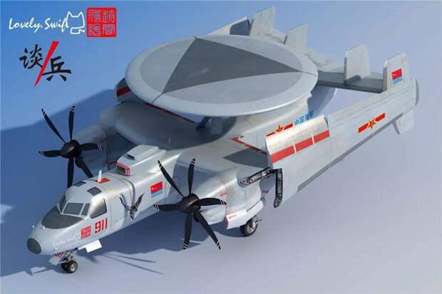 Китай ускорил разработки самолета дальнего радиолокационного обнаружения ицелеуказания палубного базирования Xi'an KJ-600 — первый прототип поднялся ввоздух