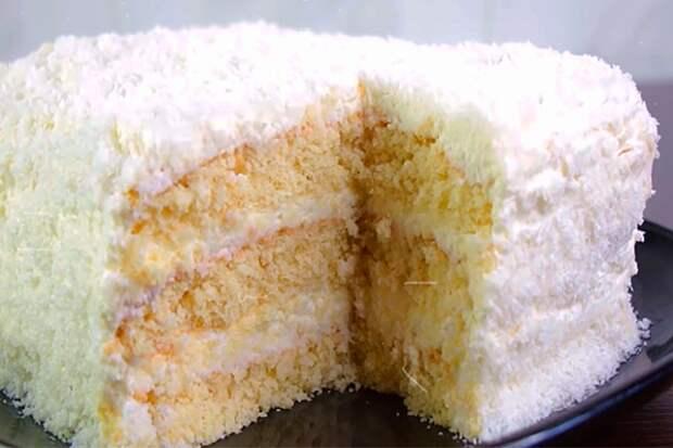 Нежный и вкусный торт «Рафаелло» на быструю руку
