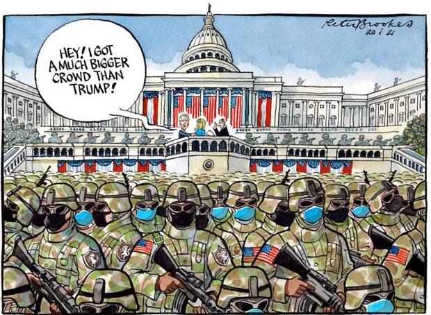 Кроме солдат не более пары сотни человек