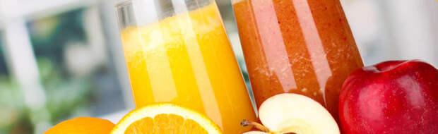 Сок из свежих овощей и фруктов